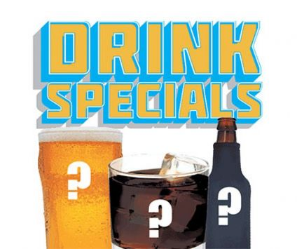 4. Monthly drink specials